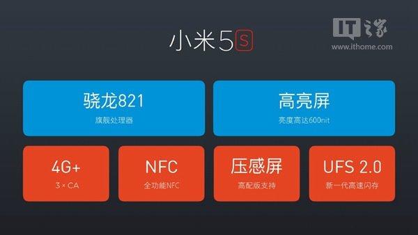 1999元起!小米5s正式发布:超声波指纹识别+骁龙821
