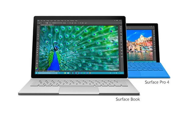 surface book, surface pro 4