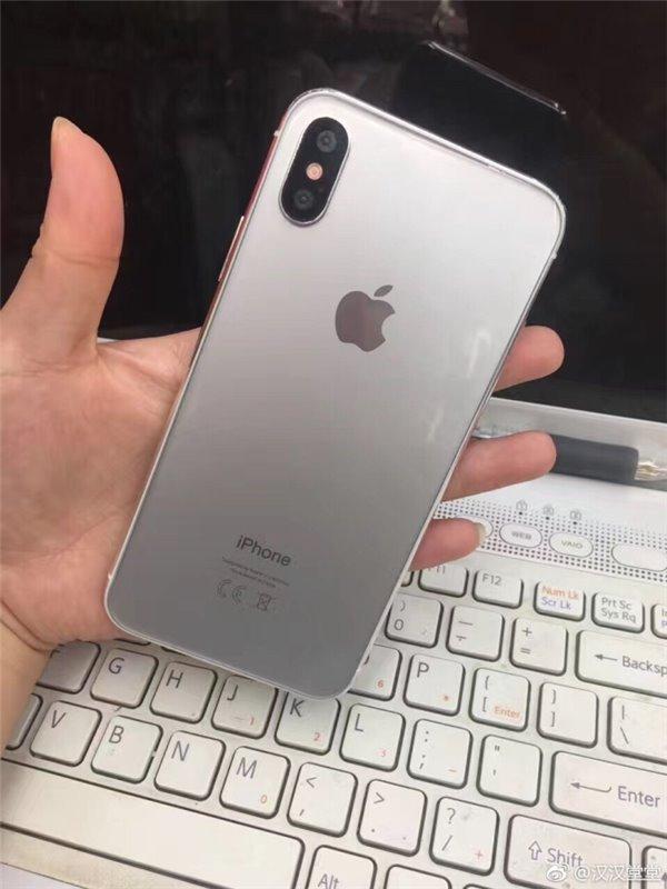 苹果iPhone 8银色样机首曝:背面玻璃材质